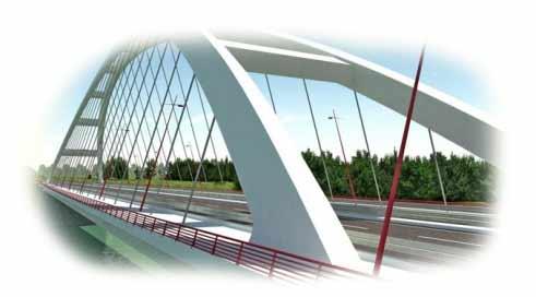 A Pentele híd teljes hossza 1682 méter, ebből a jobb parti (Dunaújváros felőli) ártéri híd 1067 méter, a bal parti 300 méter, míg a helyére úsztatott mederhíd 308 méter hosszú. A híd 41 méter széles, a mederhíd 50 méter magas és megközelítőleg 8600 tonna a szerelvényekkel együtt, burkolat nélkül. A jobb parti ártéri híd 14, a bal parti 5 pillérre támaszkodik.